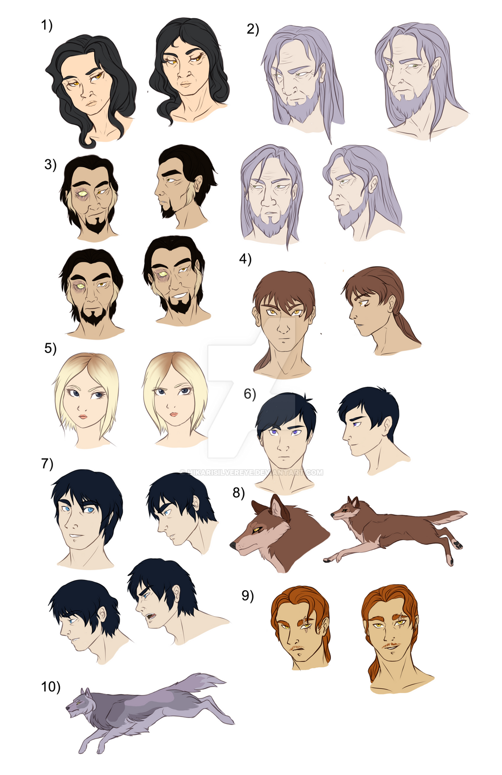 Character concept XIII: Many faces by HikariSilverEye