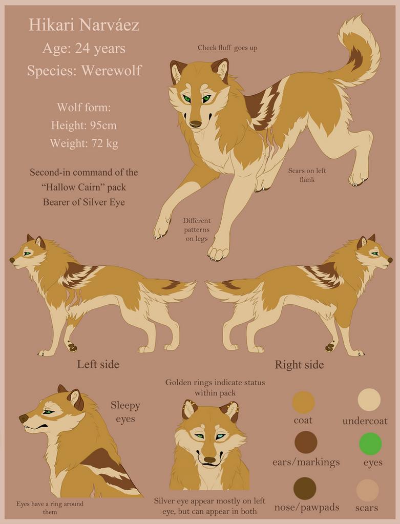 Hikari wolf reference by HikariSilverEye
