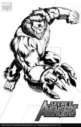 Secret Avengers: Beast by BryanSevilla