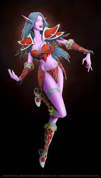 WarCraft: Nigh Elf Colored