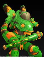 Art Jam 3 (Future Tech): Combat Armor by BryanSevilla