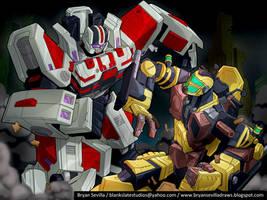 Mayhem Mekaniks: Battle Scene by BryanSevilla
