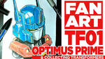 FanArt Template Optimus by BryanSevilla