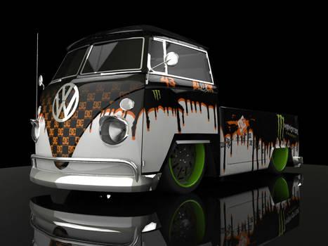 VW DUB K Block Tribute Paint