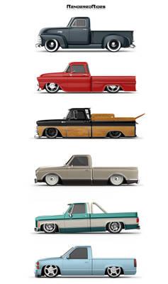 Chevy Trucks Poster