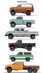 Chevy Trucks Poster Lifted