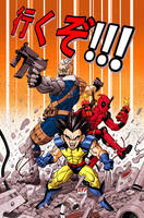Cable, Deadpool and Wolvie... by Leuname-X31