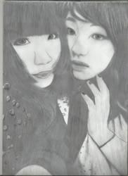 Deviant Super Models: Satou Kimura and Hotaru by flyaccountant