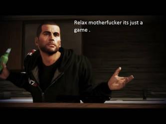 Shepard Being An Ass 1 by flyaccountant