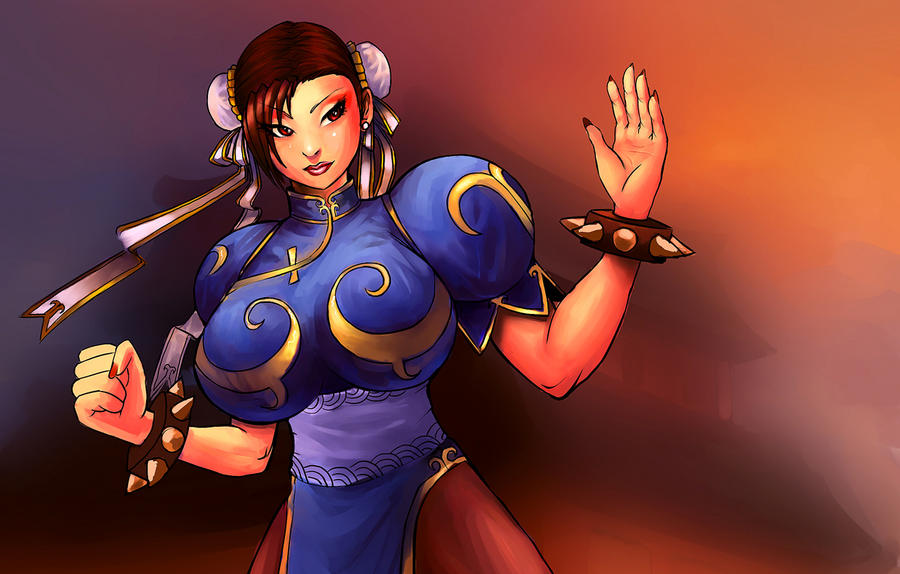Chun li fight pose by 3ihard
