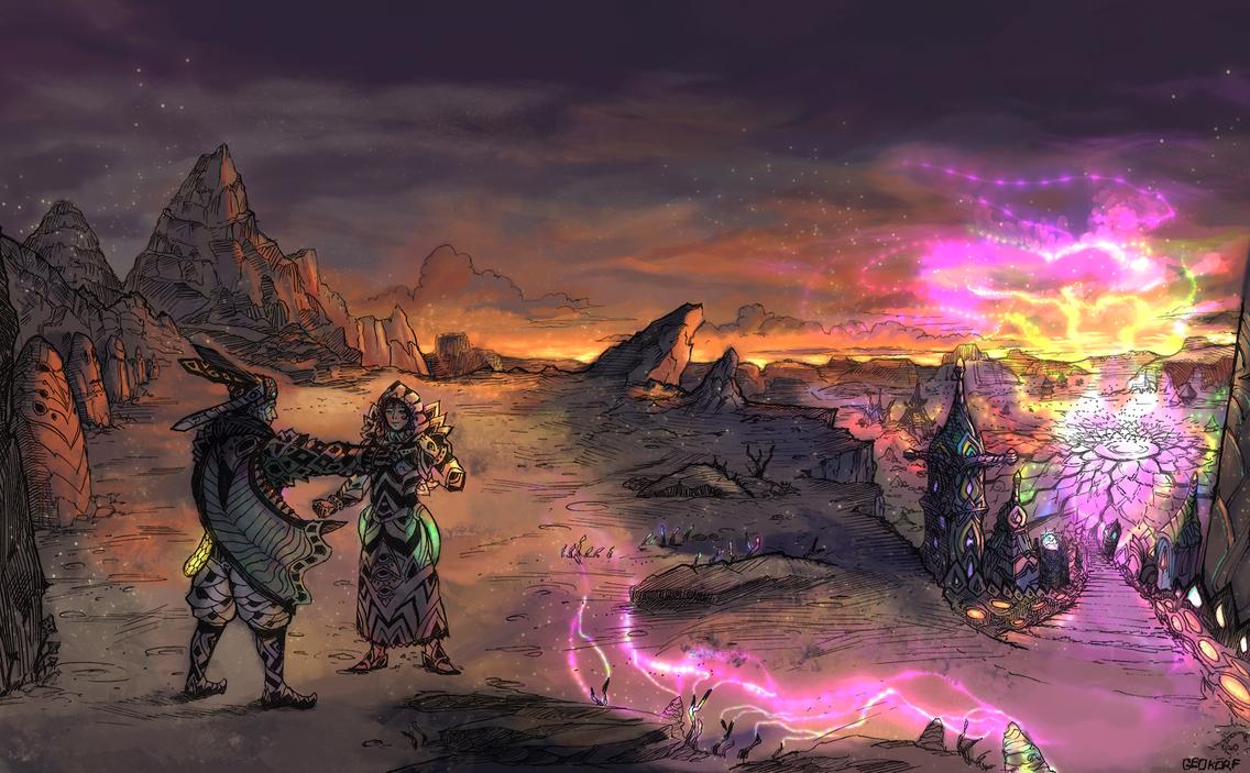 Desert dwellers - Chakra City by 3ihard