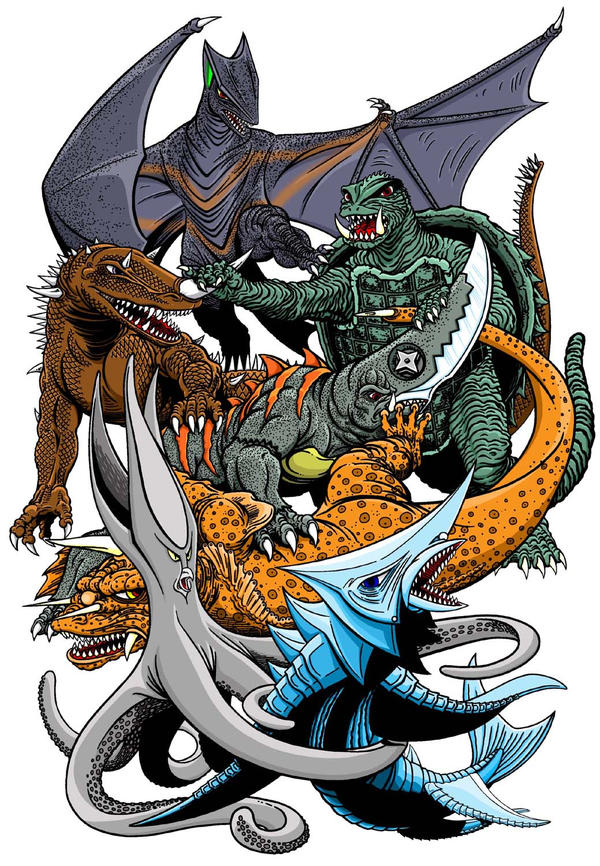 Gamera and Friends by kaijuverse