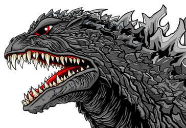 Godzilla head by kaijuverse