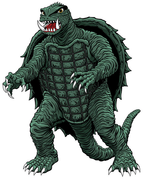 Gamera stands for the children by kaijuverse