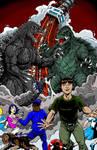 Godzilla vs Gamera commission