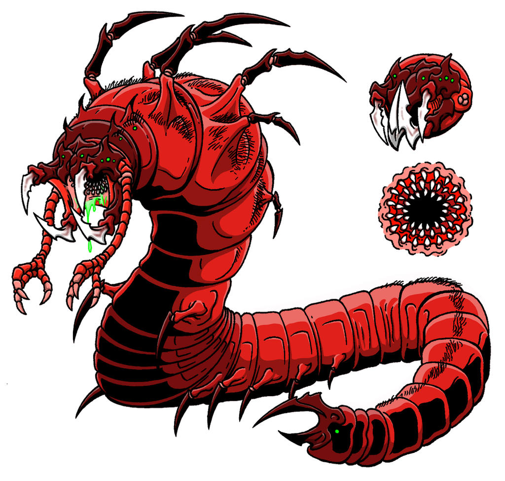 Mongolian Blood Worm by kaijuverse