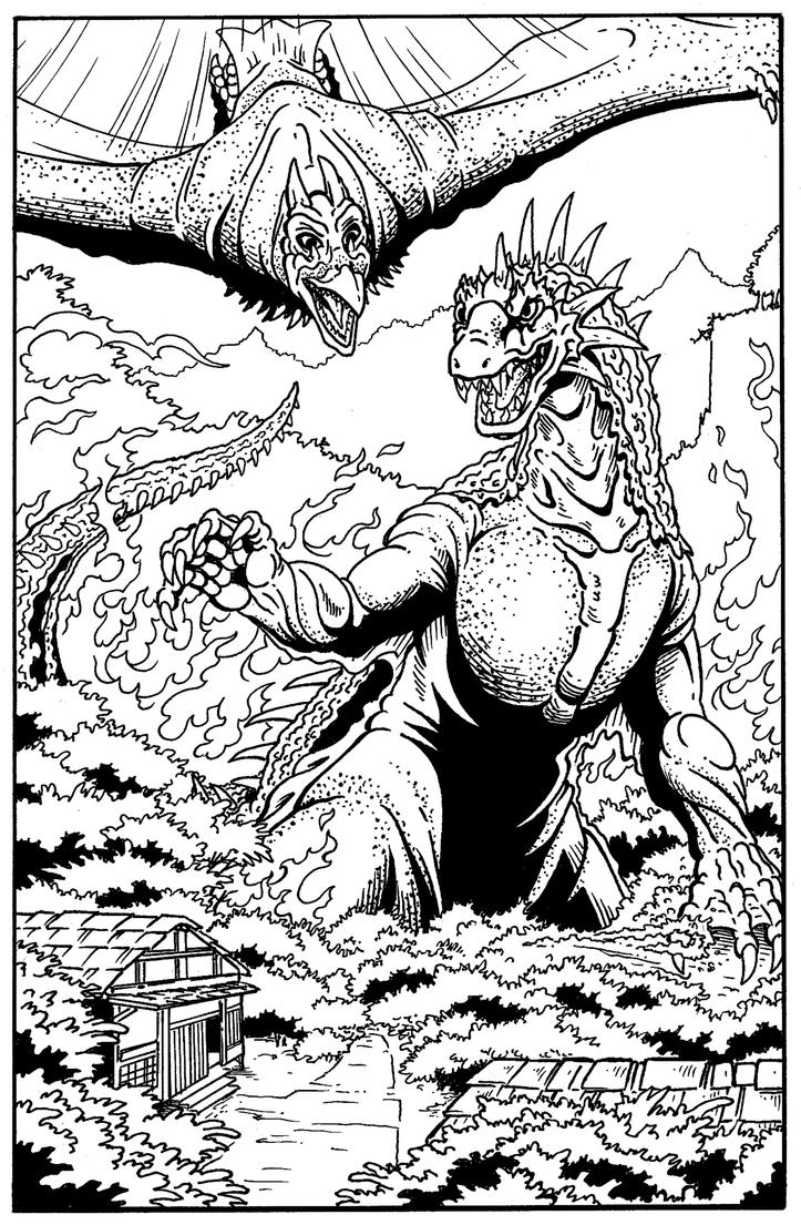 Rodan Free Colouring Pages