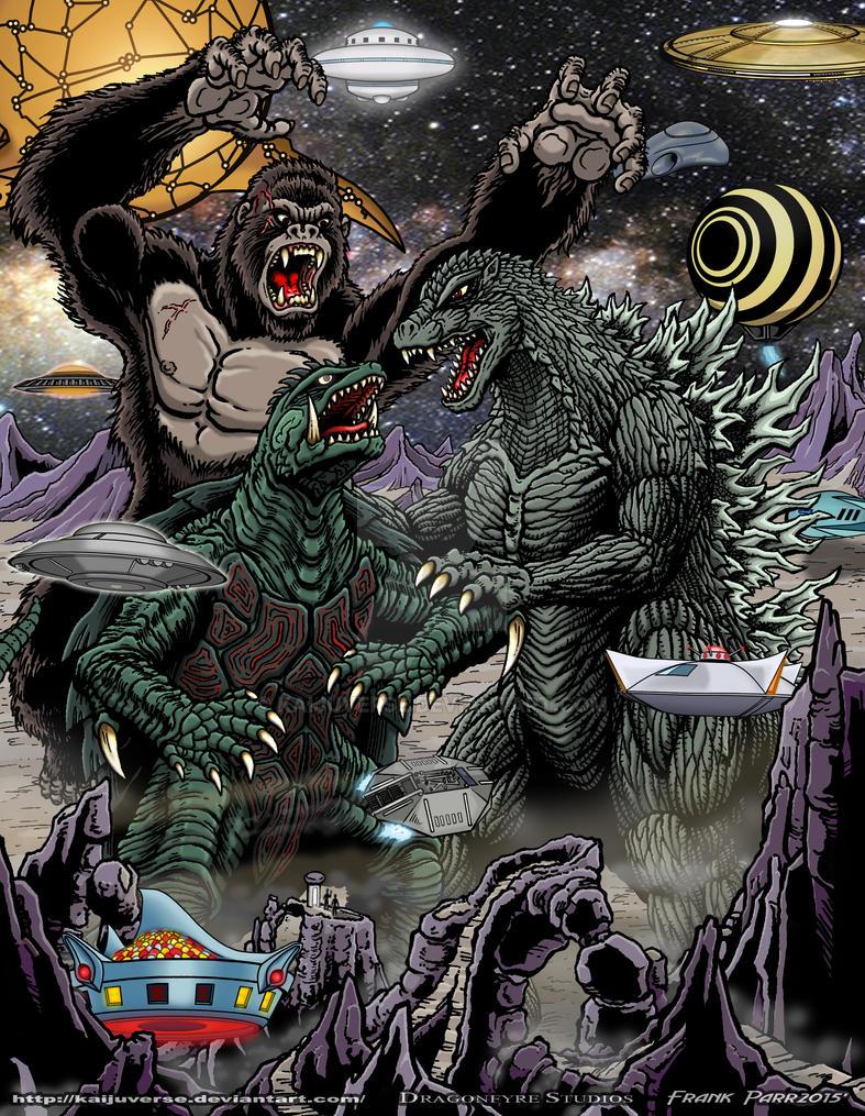 Kong Gamera Godzilla by kaijuverse