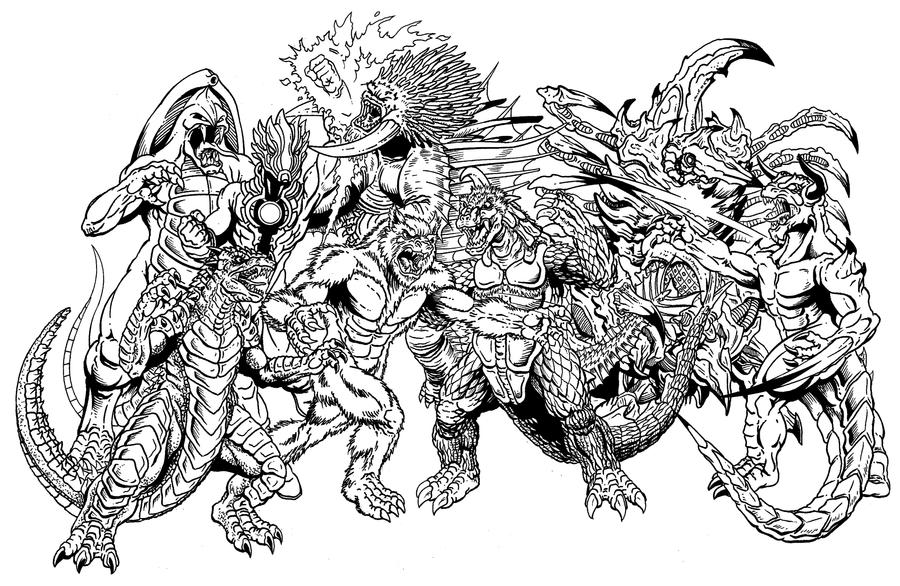 More Kaiju Inked by kaijuverse