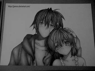 Tomoya and Nagisa ( Clannad ) by jjxenon
