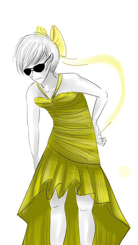 ironic yellow dress by DaveStrider
