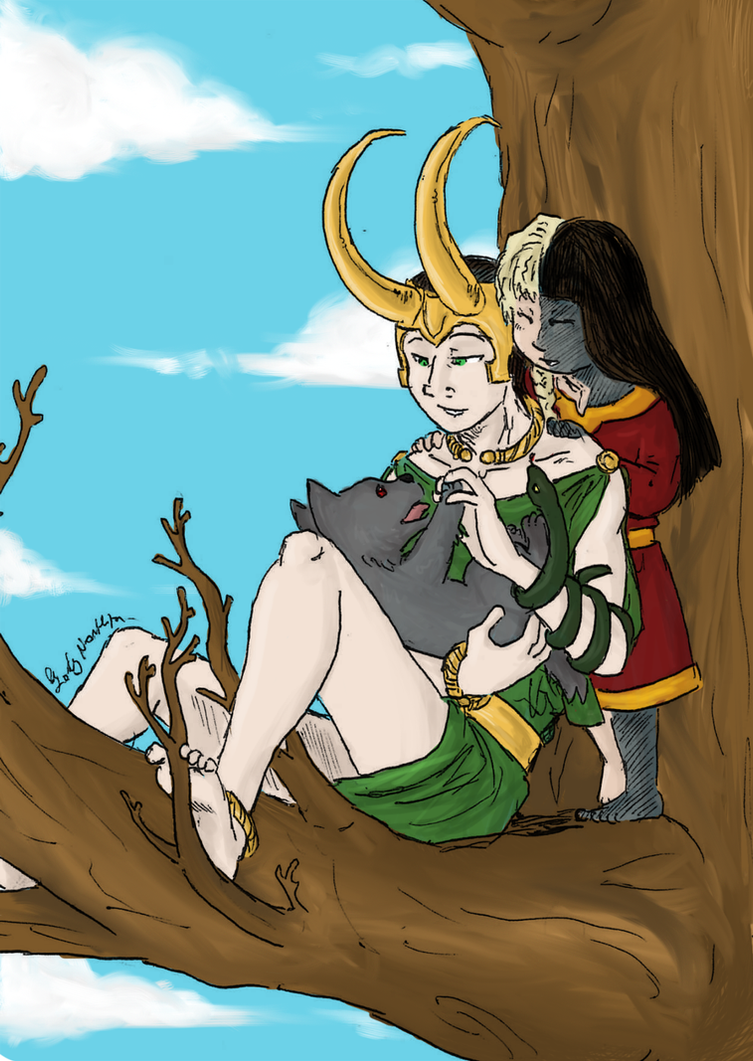 Loki's children by LadyNorthstar