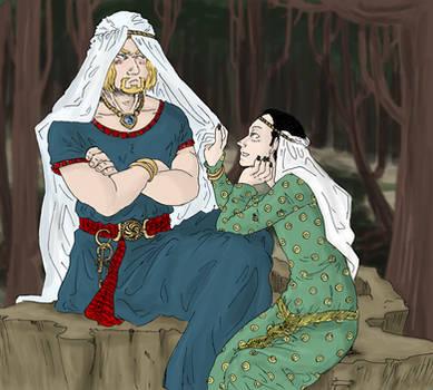 Thor and Loki : lovely bride by LadyNorthstar