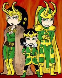 chibi Lokis by LadyNorthstar