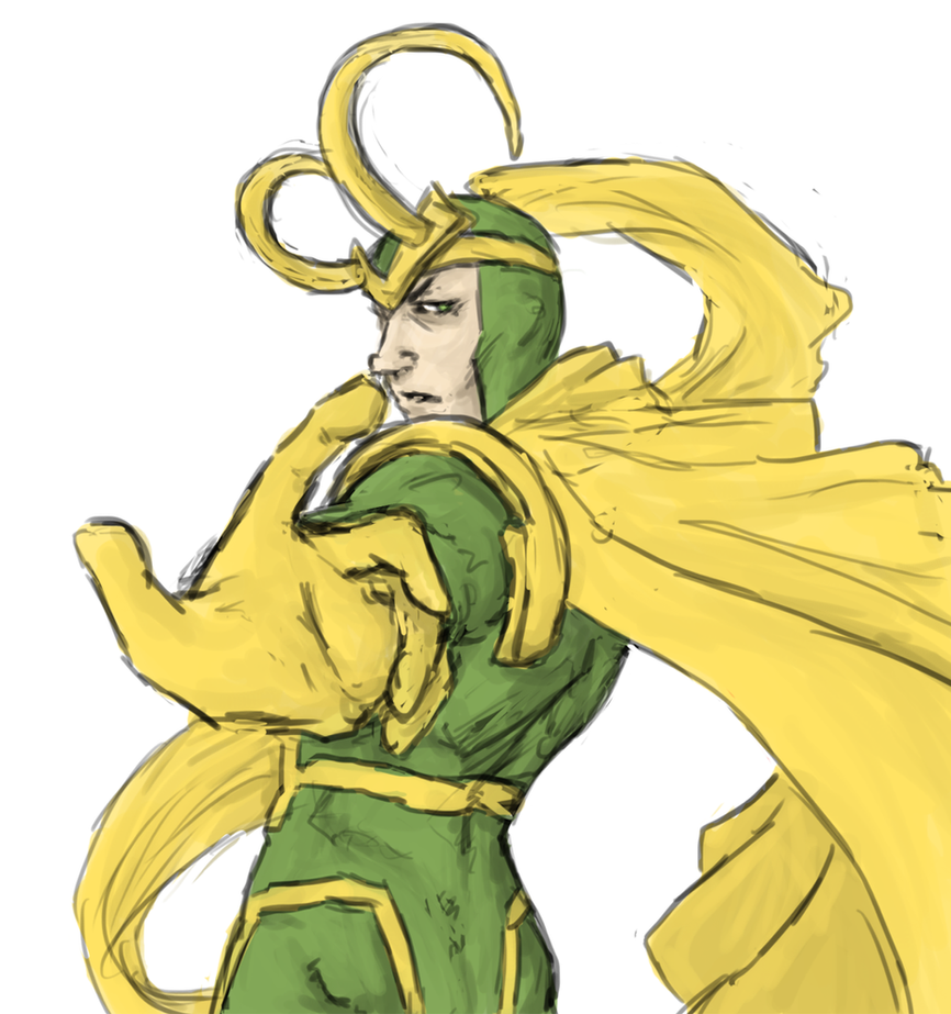 Loki : old style by LadyNorthstar