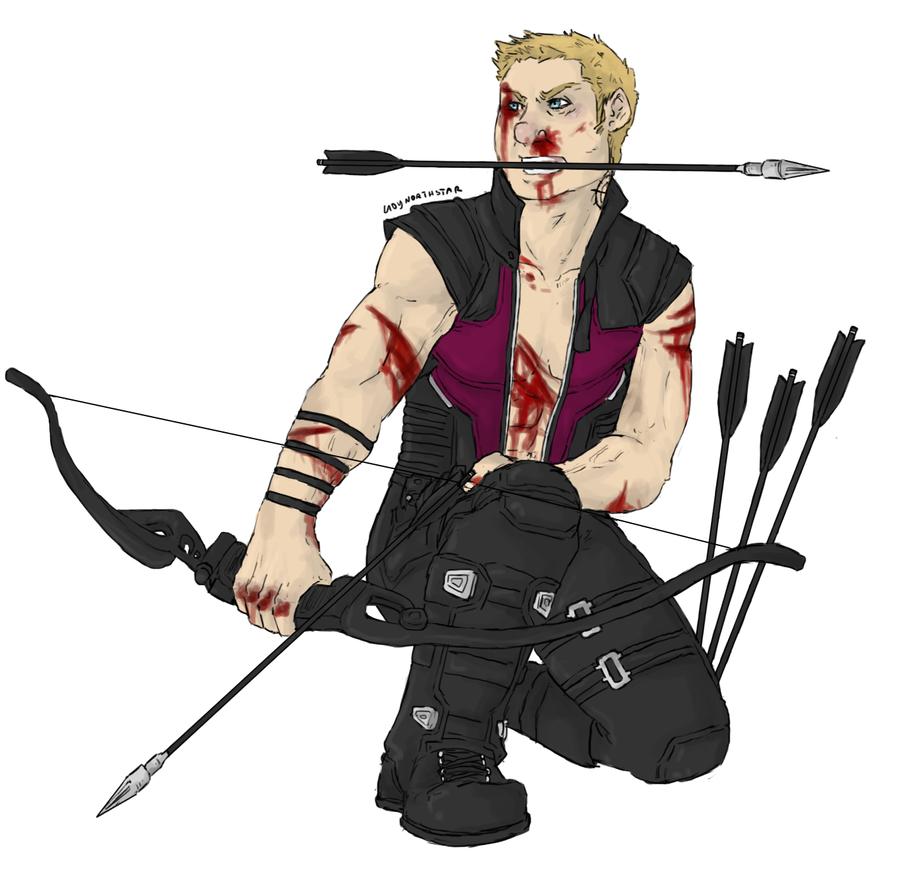 Hawkeye : ready to strike by LadyNorthstar