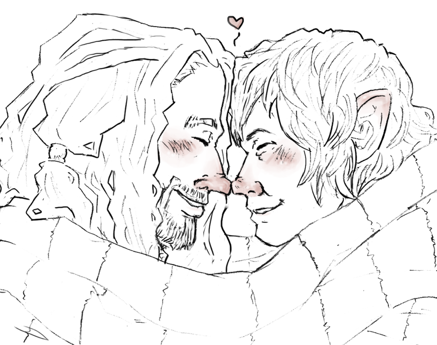 the Hobbit : winter kiss by LadyNorthstar