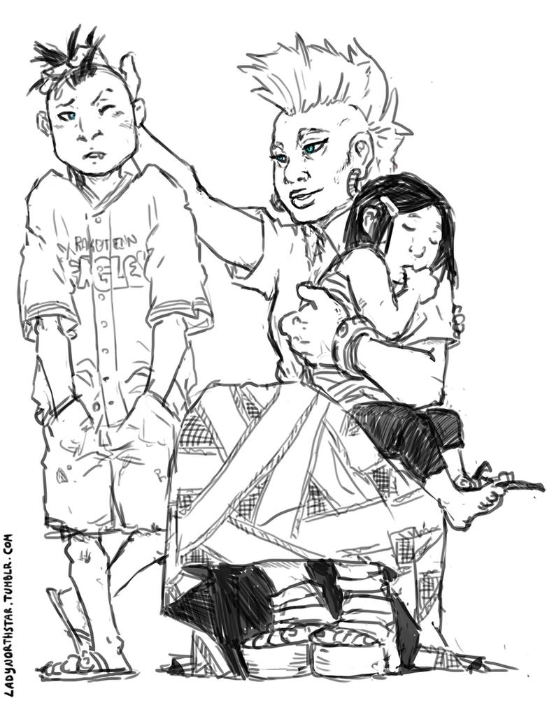 a snikt family by LadyNorthstar