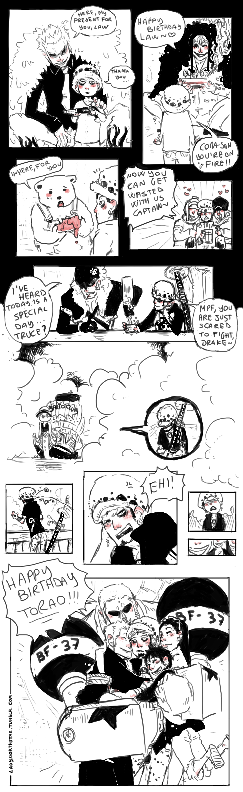 One Piece : HAPPY B'DAY LAW by LadyNorthstar