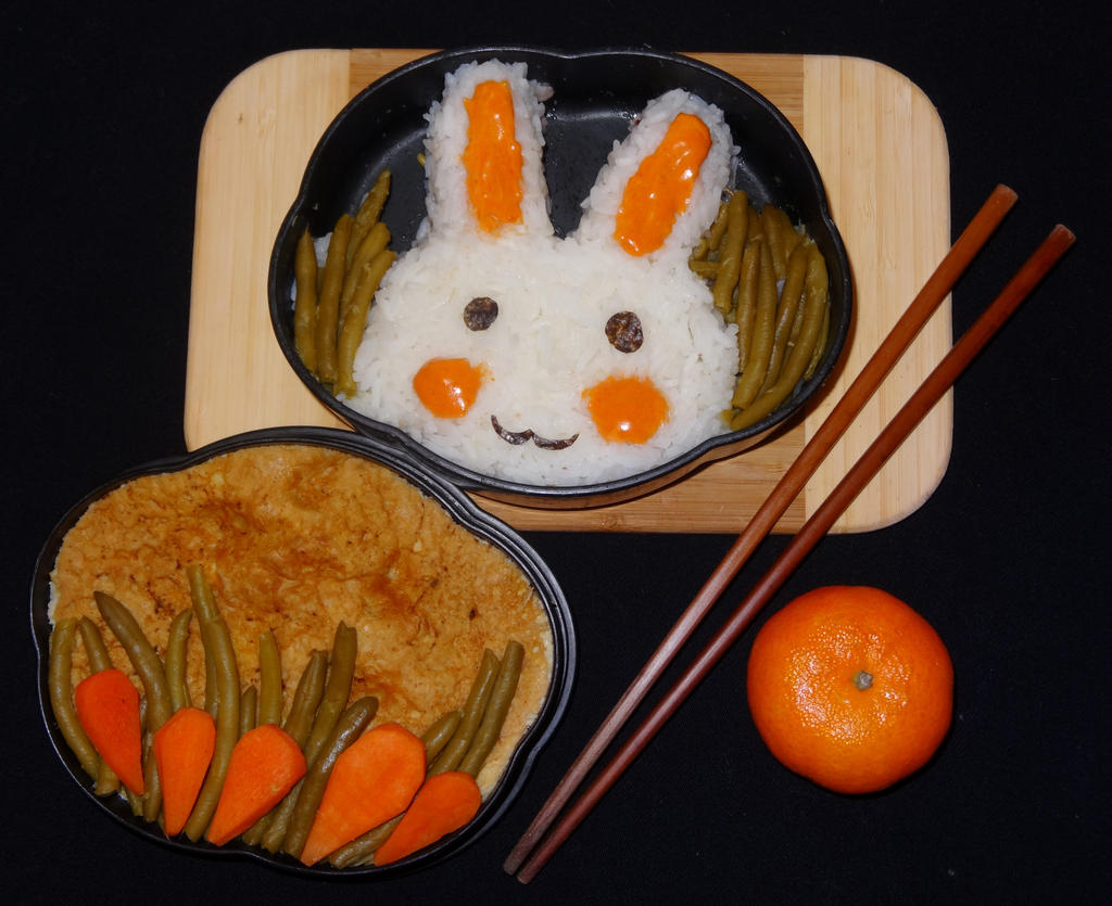 Bunny Bento! by shinjuco