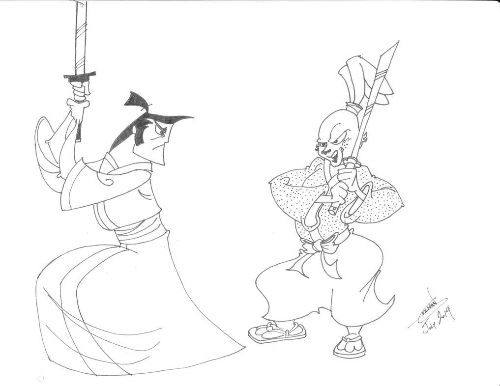Samurai Jack vs Usagi Yojimbo by AZTECH2009