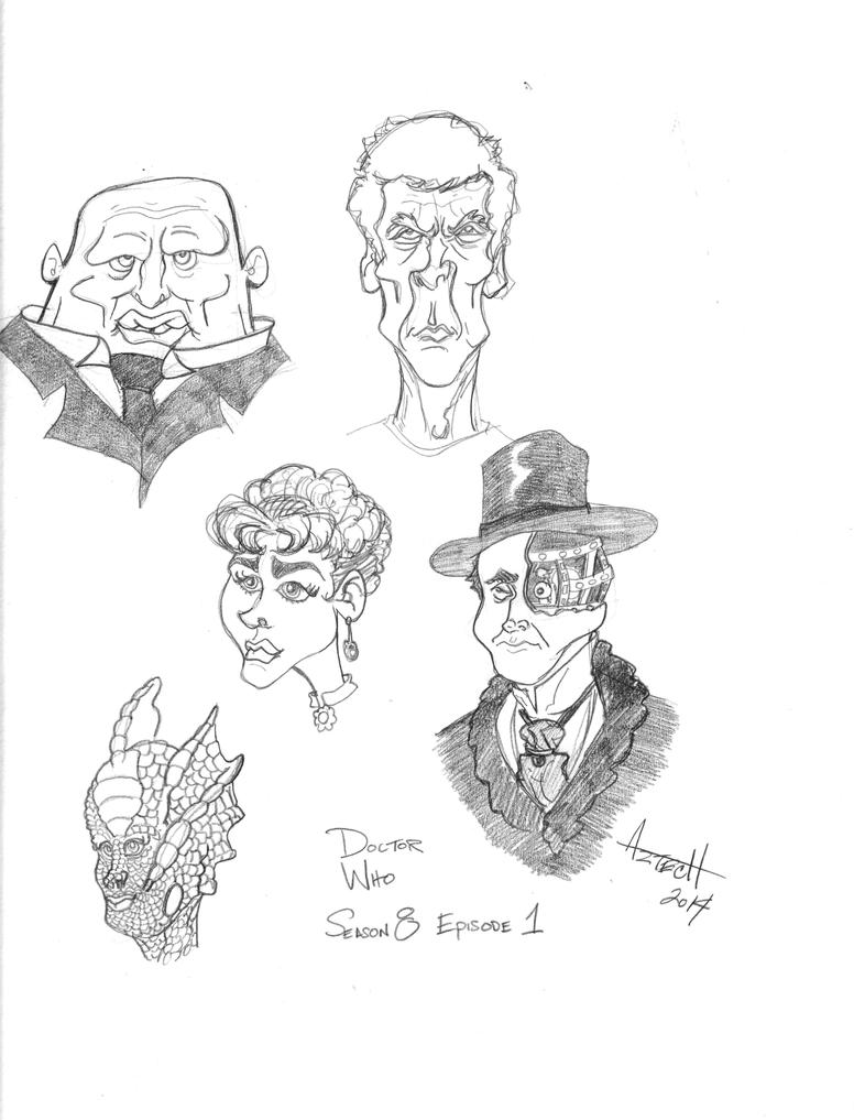 Oodles of Doodles 3 - Doctor Who 8x01 characters by AZTECH2009
