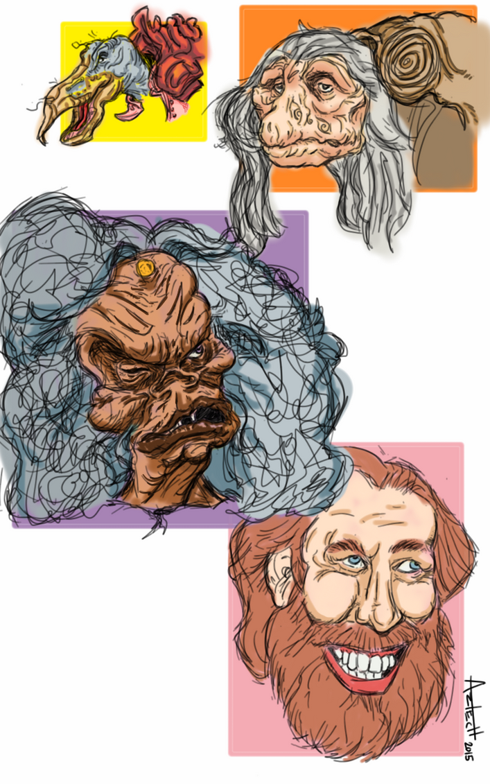 Henson and The Dark Crystal by AZTECH2009