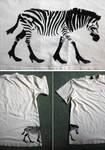 a zebra with class