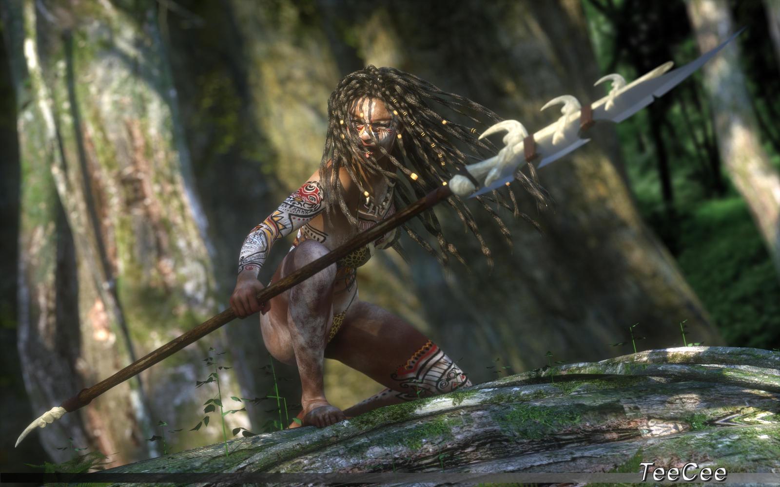 Forest hunter by ThierryCravatte