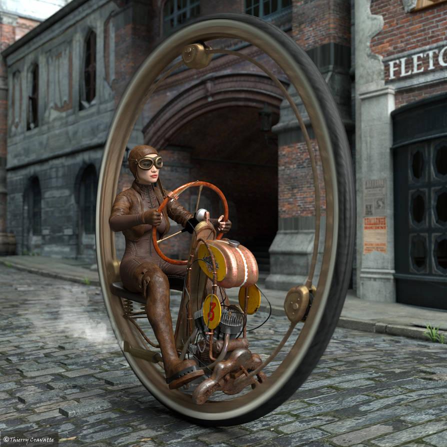One Wheel Racer by ThierryCravatte on DeviantArt