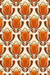 Retro tulip print by pinkandfluffy