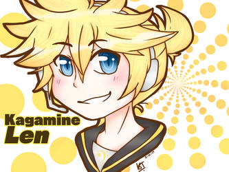 Kagamine Len (practice with graphic tablet) by KagamineTwins26