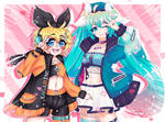 WAH WAH WORLD! (Rin and Miku Collab!)