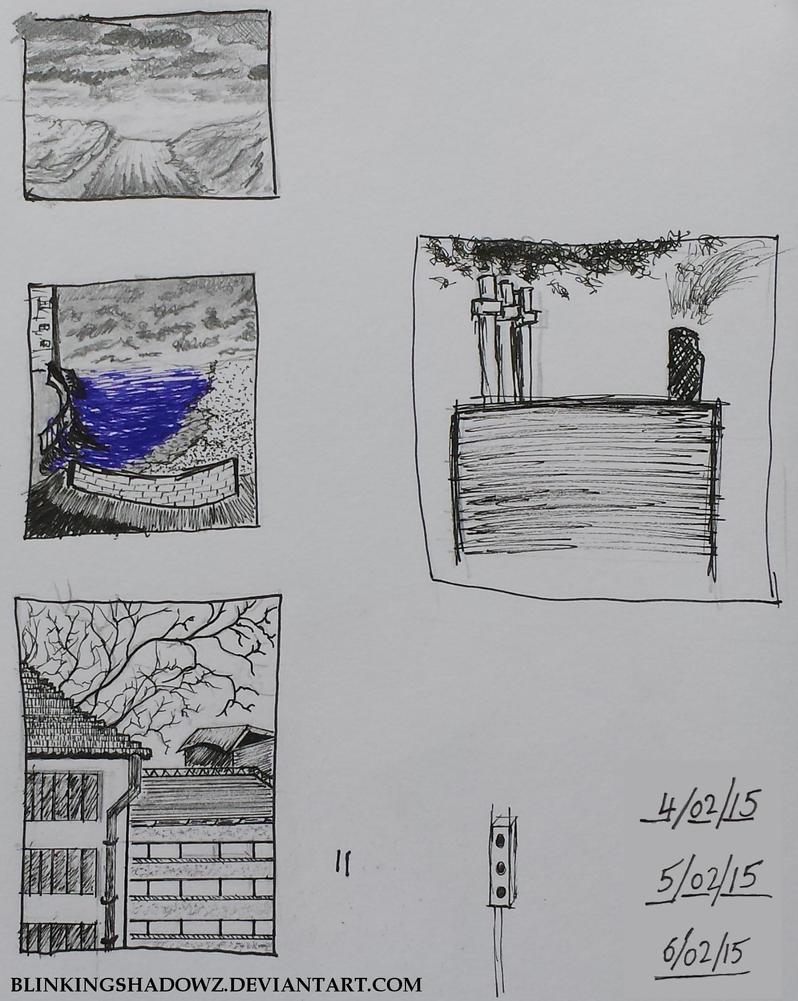 Random Thumbnail Sketches by BlinkingShadowz