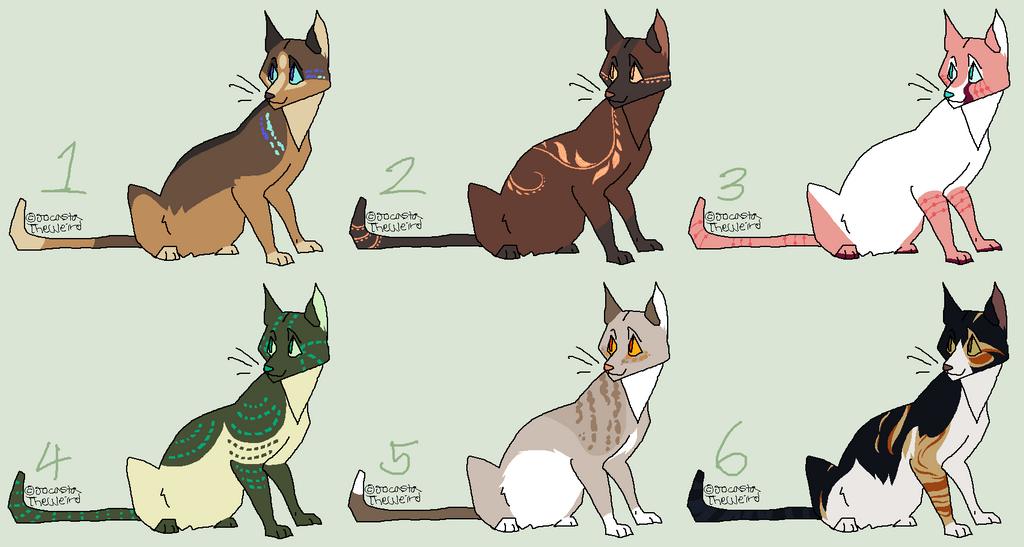 Cat adoptables (CLOSED) by JocastaTheWeird