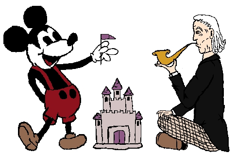 The First Doctor and Mickey Mouse by gracefulfire
