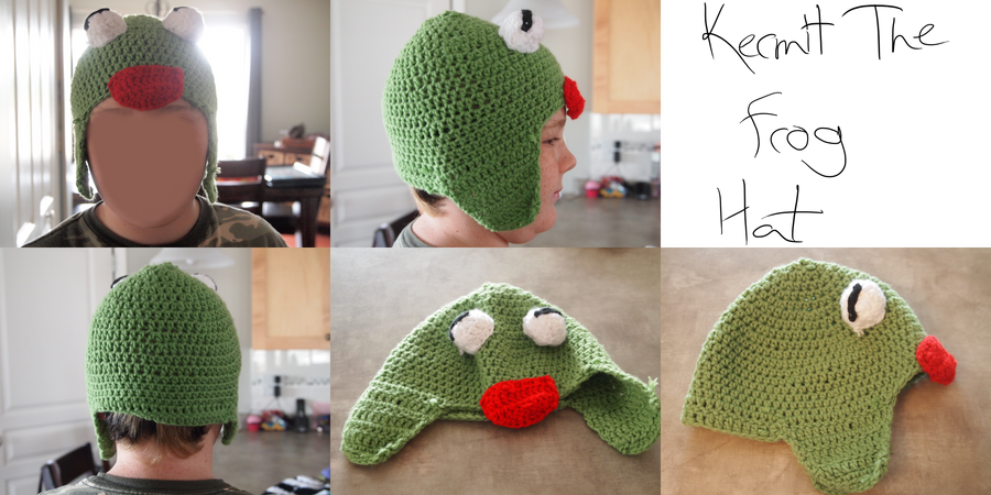 Kermit The Frog Hat by Kelly-Crochet