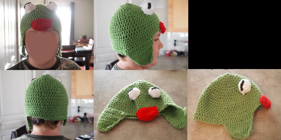 Kermit The Frog Hat by Kelly-Crochet