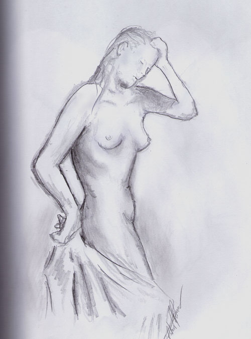 Shower figure study by PatrickPower