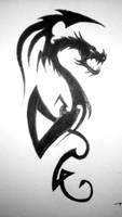 Tribal Dragon by PatrickPower